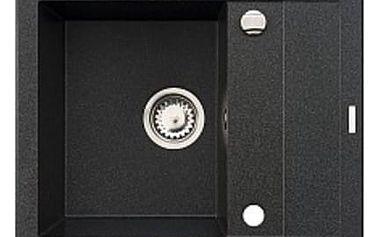 Granitový kuchyňský dřez Pyramis STUDIO 59x48 1B 1D, černá