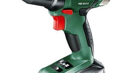Aku vrtačka Bosch PSR 18 LI-2 (1 aku, 2,5 Ah) zelená