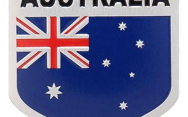 3D auto samolepka - australská vlajka - 5 x 5 cm