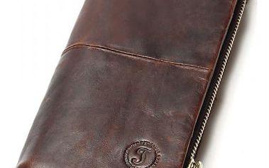 Pánská kožená peněženka s odjímatelnou kapsou na zip