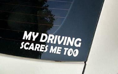 Samolepka na auto - vtipný nápis