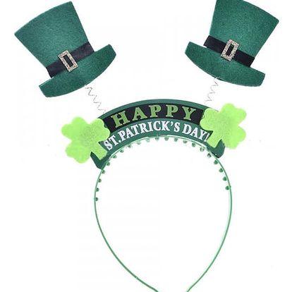 Dívčí čelenky s kloboučky k oslavě St. Patrick´s day