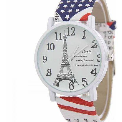 Klasické dámské hodinky s Eiffelovou věží