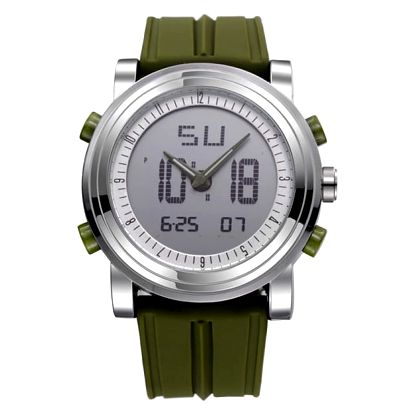 Kombinované náramkové hodinky se silikonovým páskem