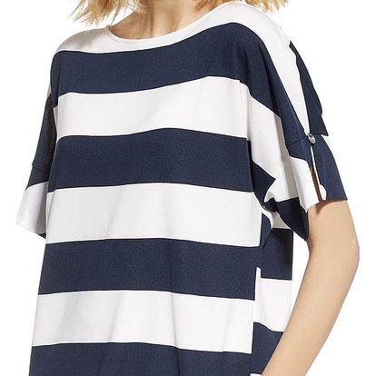 Bílo-modré tričko 230114
