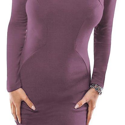 Fialové šaty 18005