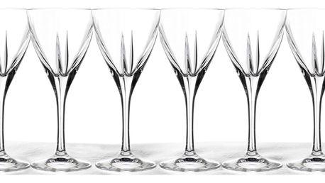 6 luxusních sklenic 250 ml z křišťálového skla