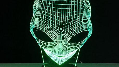 3D lampička s mimozemšťanem