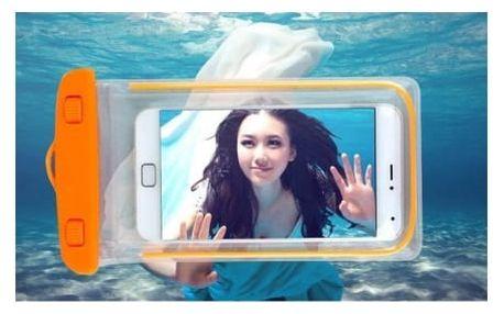 Vodotěsné pouzdro na mobil. Praktický obal, který chrání před vodou i nečistotami! Vhodné i na foťák, MP3 přehrávač a cennosti.