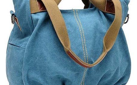 Dámská látková kabelka s přírodními uchy