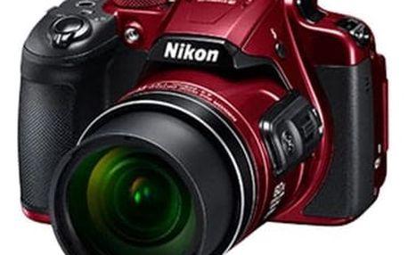 Kompaktní fotoaparát Nikon Coolpix B700 red