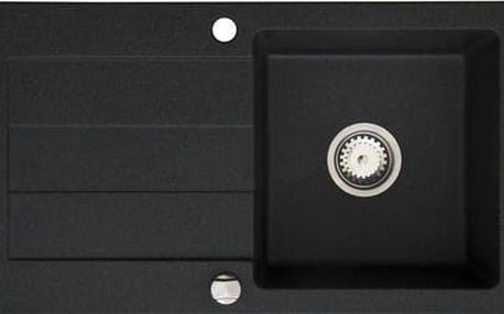 Granitový kuchyňský dřez Pyramis SPARTA 76x44 1B 1D černá