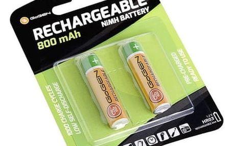 Nabíjecí mikrotužkové baterie GoGEN AAA, HR03 CHARGE 800, 800mAh, Ni-MH, blistr