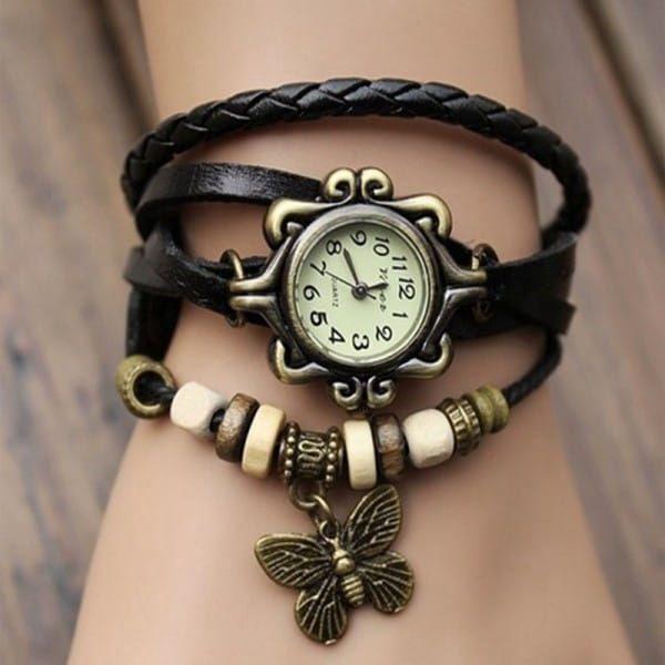 Dámské vintage hodinky s náramky