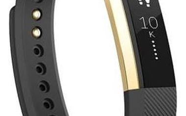 Fitness náramek Fitbit Alta large (FB406GBKL-EU) černý/zlatý + Doprava zdarma