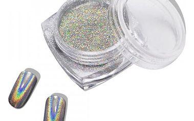 Stříbrný prášek na nehty