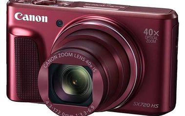 Digitální fotoaparát Canon PowerShot SX720HS (1071C002) červený Paměťová karta Kingston MicroSDHC 16GB UHS-I U1 (45R/10W) + adapter (zdarma) + K nákupu poukaz v hodnotě 1 000 Kč na další nákup + Doprava zdarma