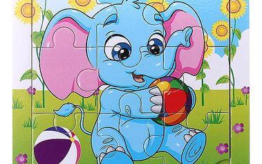 Dětské puzzle se slonem