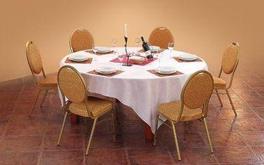 Jídelní kulatý stůl Rumba antická třešeň