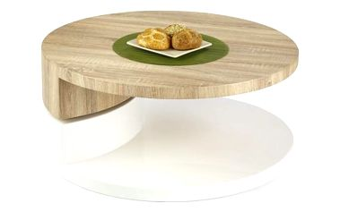 Konferenční stůl Madeleine dub sonoma/bílá
