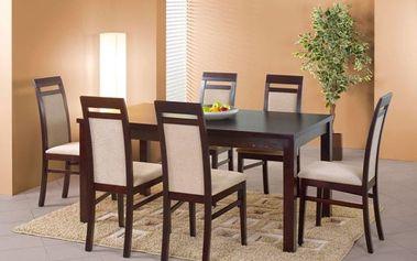 Dřevěný jídelní stůl Ernest II 160 cm s přírodní dýhou olše