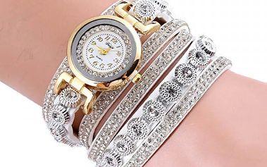 Bohatě zdobené vícevrstvé dámské hodinky