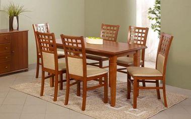 Dřevěný jídelní stůl Marcel s přírodní dýhou tmavý ořech