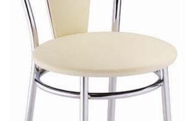 Kovová židle Tulipan Plus béžová