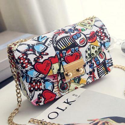 Letní mini kabelka s motivem graffiti - 3 druhy