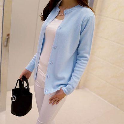 Jarní svetřík s knoflíkovým zapínáním pro ženy - 8 barev