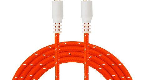 Prodlužovací pletený AUX kabel 3,5 mm - 1 m (různé barvy)