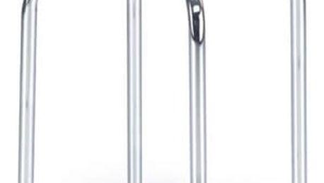 Kovová stolička Piri tmavě hnědá