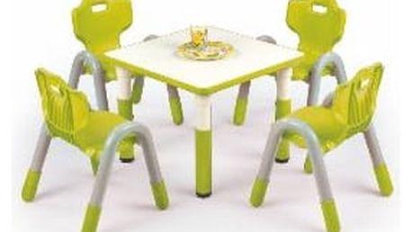 Dětský stolek Simba, čtverec zelená