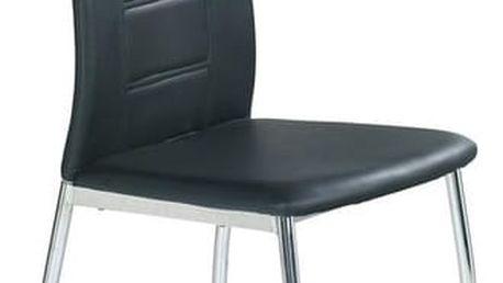 Kovová židle K134 černá
