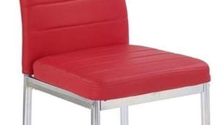Kovová židle K70 C červená