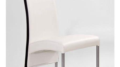 Kovová židle K51 bílá-černá