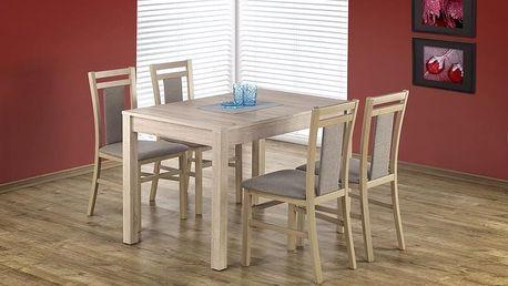 Dřevěný jídelní stůl Maurycy ořech - černá