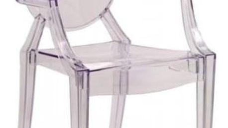 Plastová židle K91 čirá