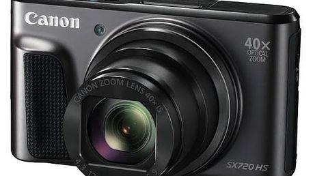 Digitální fotoaparát Canon PowerShot SX720HS (1070C002) černý Paměťová karta Kingston MicroSDHC 16GB UHS-I U1 (45R/10W) + adapter (zdarma) + K nákupu poukaz v hodnotě 1 000 Kč na další nákup + Doprava zdarma