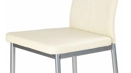 Jídelní židle K202 krémová