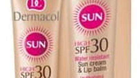 Dermacol Sun Cream & Lip Balm SPF30 30 ml opalovací přípravek na obličej W
