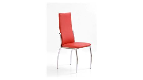 Kovová židle K3 červená
