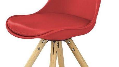 Jídelní židle K201 červená