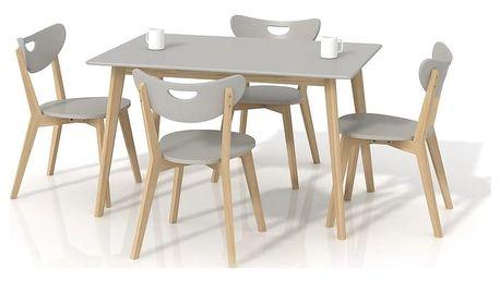 Jídelní stůl Lorrita šedá