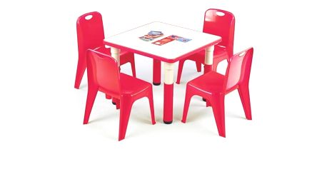 Dětský stolek Simba, čtverec červená