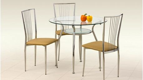 Skleněný jídelní stůl Adam
