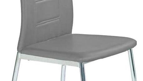 Kovová židle K134 šedá