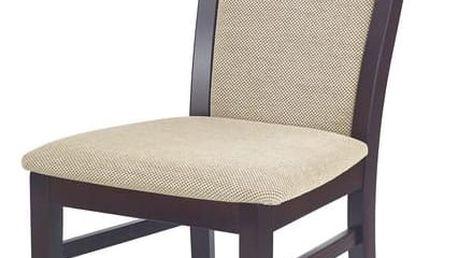 Jídelní židle Damian ořech - černá