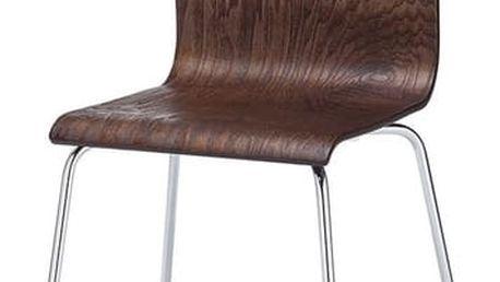Kovová židle K167 wenge