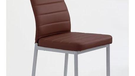 Kovová židle K70 tmavě hnědá